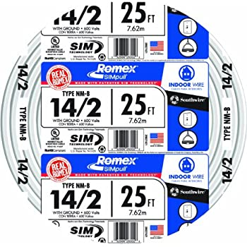 Romex® Building Wire, NM-B 14/2 250\' - Electrical Wires - Amazon.com
