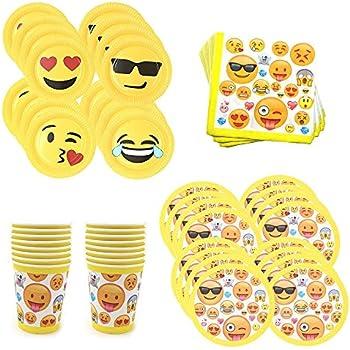 ZICOME Emoji Birthday Party Supplies