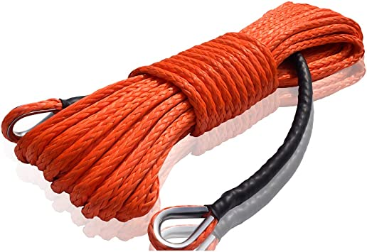 """1//2/""""*100ft grey synthetic winch rope,Towing Ropes,Synthetic Rope,Off Road Rope"""