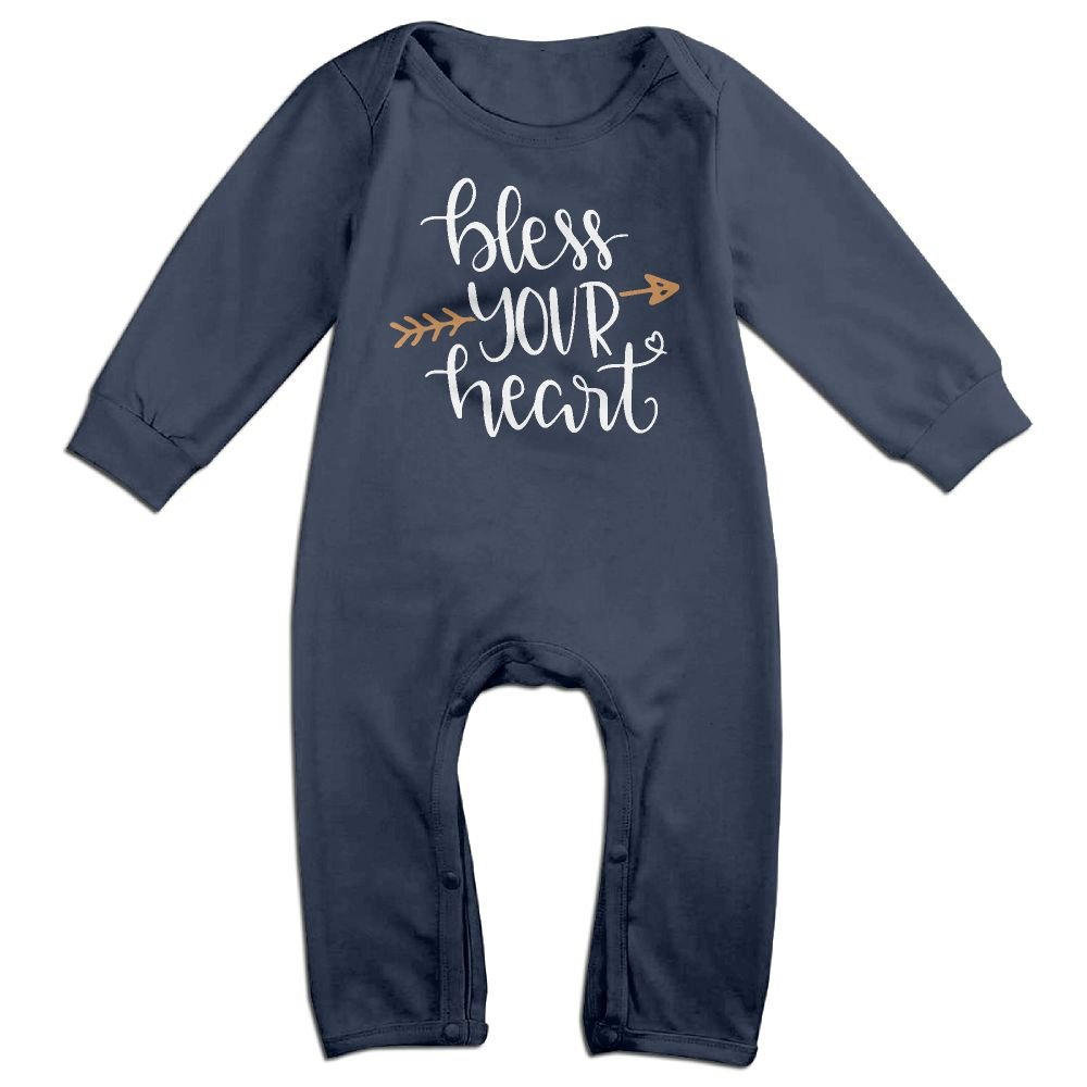 Mri-le1 Newborn Kids Coverall Bless Your Heart Toddler Jumpsuit