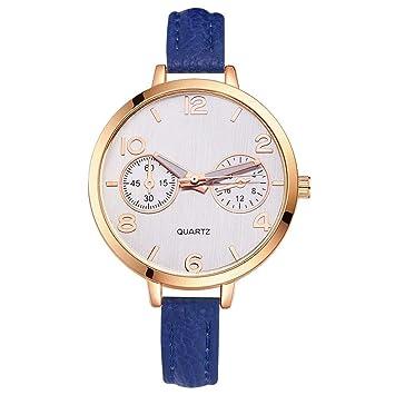 PZXY Reloj de cuarzoGrandes Relojes para Mujer Relojes de Hora Top Marca Cuarzo Reloj Mans patrón reticular Cuero Deporte Reloj de Pulsera Reloj: Amazon.es: ...