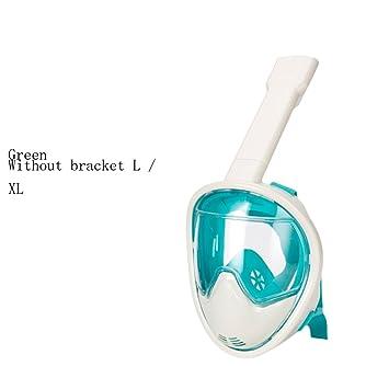 snfgoij Máscara De Buceo Snorkeling Máscara Facial Anti-empañamiento Gafas Equipo De Tubo De Respiración