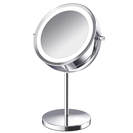 Beauty & Health Skin Care Tools 3 Sides Portable Mirror With Led Lamp Makeup Mini Travel Mirror Battery Power Button Switch Mini Size Special Buy