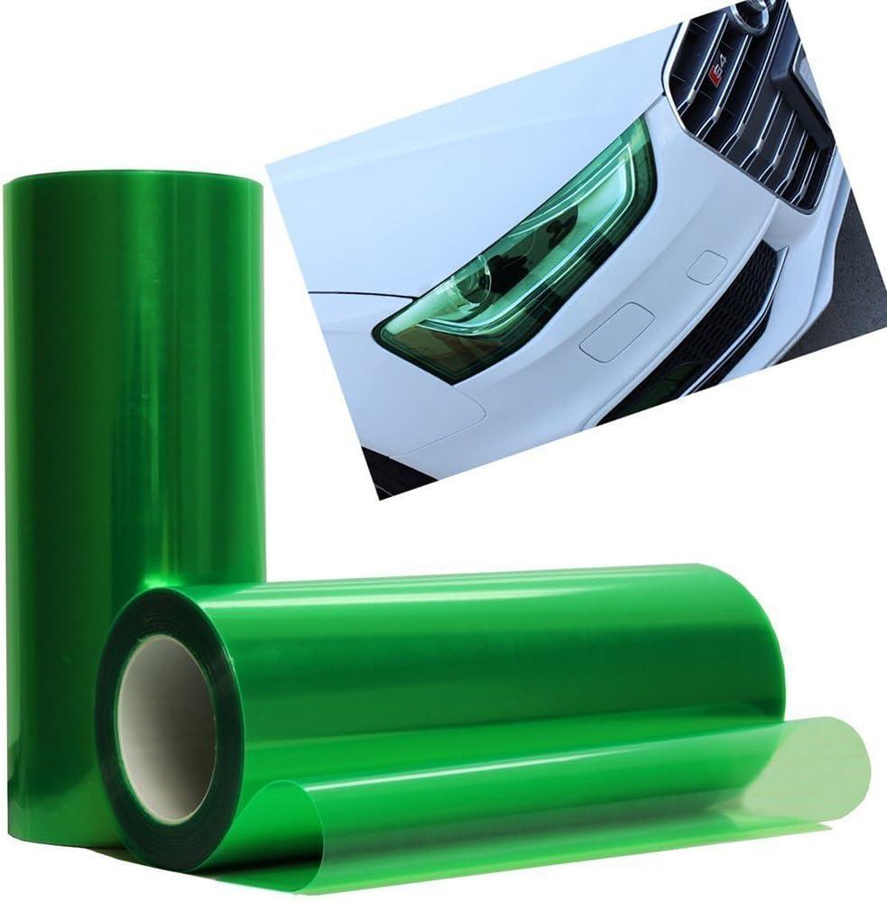 vinilo tintado, 100 cm x 30 cm, para faros antiniebla, impermeable de Easytar Adhesivo para cubrir los faros traseros del veh/ículo