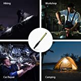ORHOME LED Work Light - 750 Lumens Rechargeable COB Work Light with Power Capacity Indicator, Magnetic Base, 360°Swivel, USB Cable for Car Repair, Home, Outdoor Camping and Emergency 2400mAh