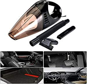 Car Vacuum Cleaner 12V 3800Pa Suction Strong Power with Sucker/Brush/Long Suction Nozzle Mini Car Vacuum Sweeper Dust Collector