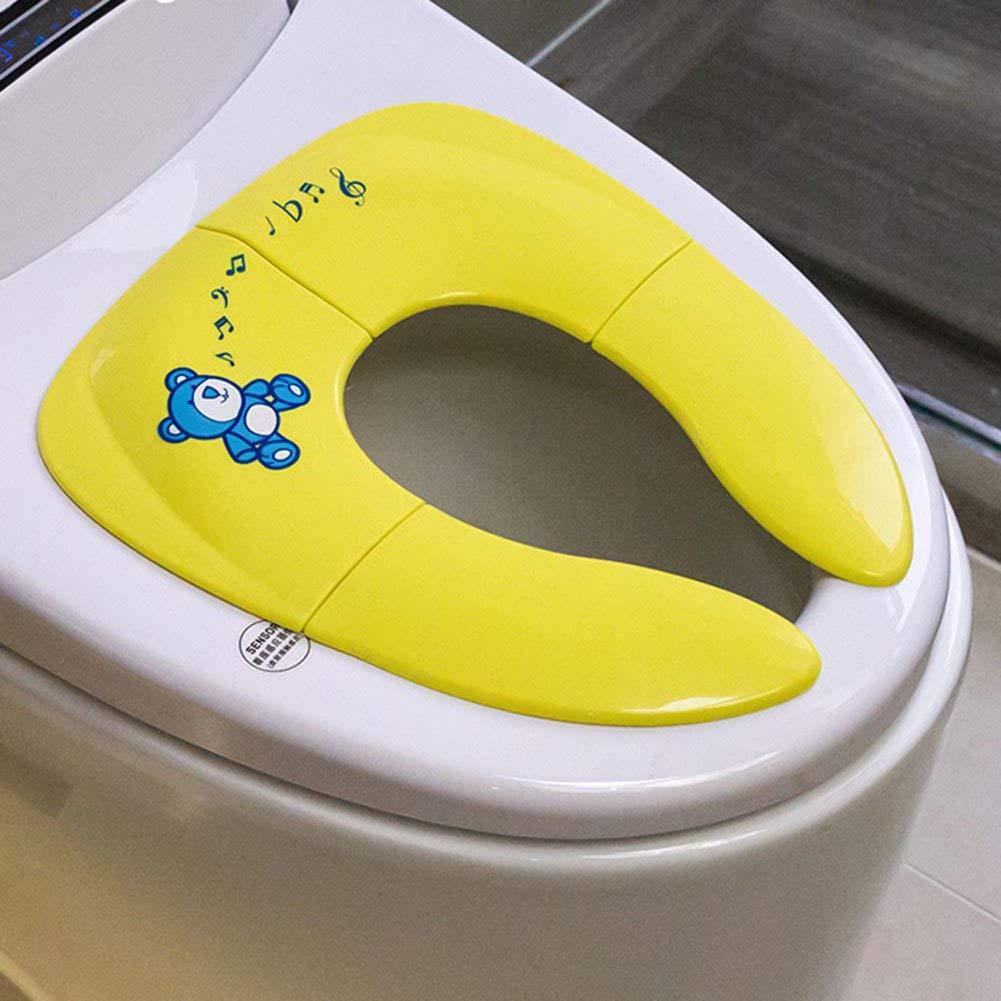 Adaptador WC niñ os Asiento Orinal Portá til - Tu Aliado para Casa y Viajes, Solució n higié nica en los inodoros pú blicos, Antideslizante (Amarillo) Solución higiénica en los inodoros públicos AlsaceConcept