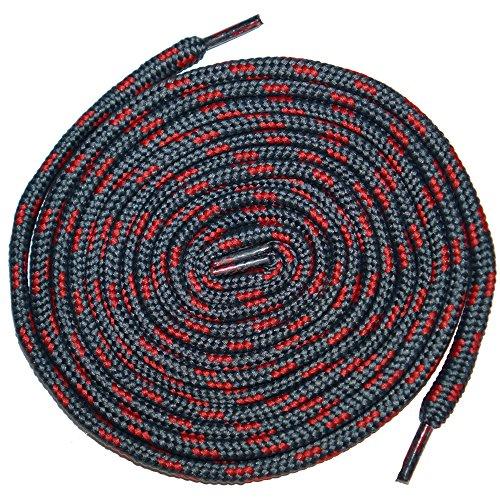 Shoeslulu 35-46 Premium Round Robusto Scarpe Da Trekking Scarpe Da Ginnastica Lacci Delle Scarpe Polvere Grigio / Rosso