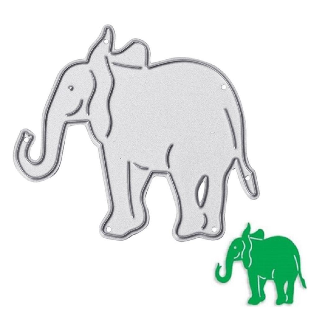 Bottone troqueles de corte de metal plantilla para molde para tarjeta de papel DIY álbum de recortes Craft Decoración Nuevo (elefante): Amazon.es: Juguetes ...