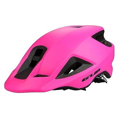 ZHIHUI Hommes Femmes Cyclisme Casque de Vélo, Intégralement Moulé Vélo Casque de Sécurité Casque Spécialisé pour Route Montagne Terrain Vélo , rose red