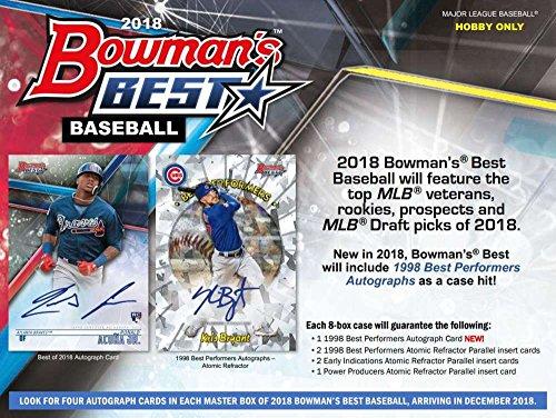 2018 Bowman's Best Hobby Box (12 Packs/5 Cards: 4 Autographs)