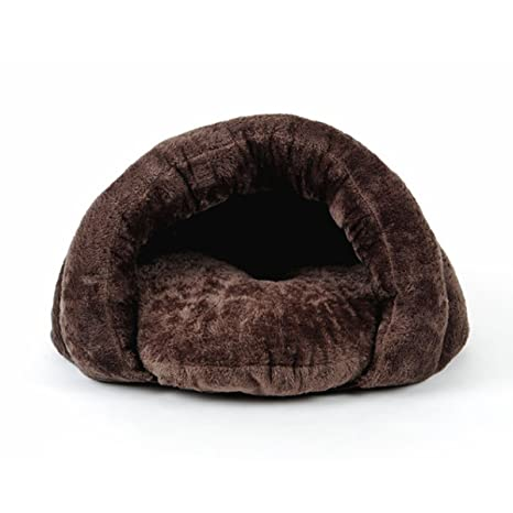 PETCUTE Camas para Perros Gatos Saco de Dormir para Perros cálido Cuevas casa para Gatos Nido de Gato caseta de Perros