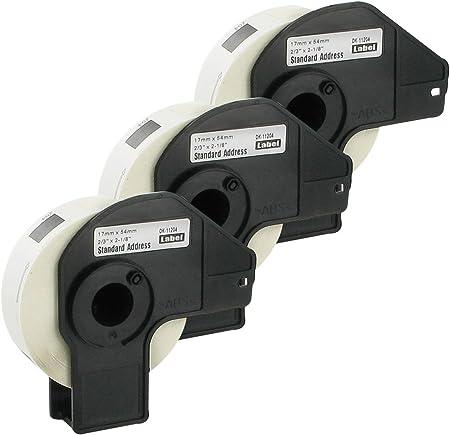 5 ROLLEN ETIKETTEN 17x54mm STANDARD für BROTHER P-touch QL-650 QL-650TD
