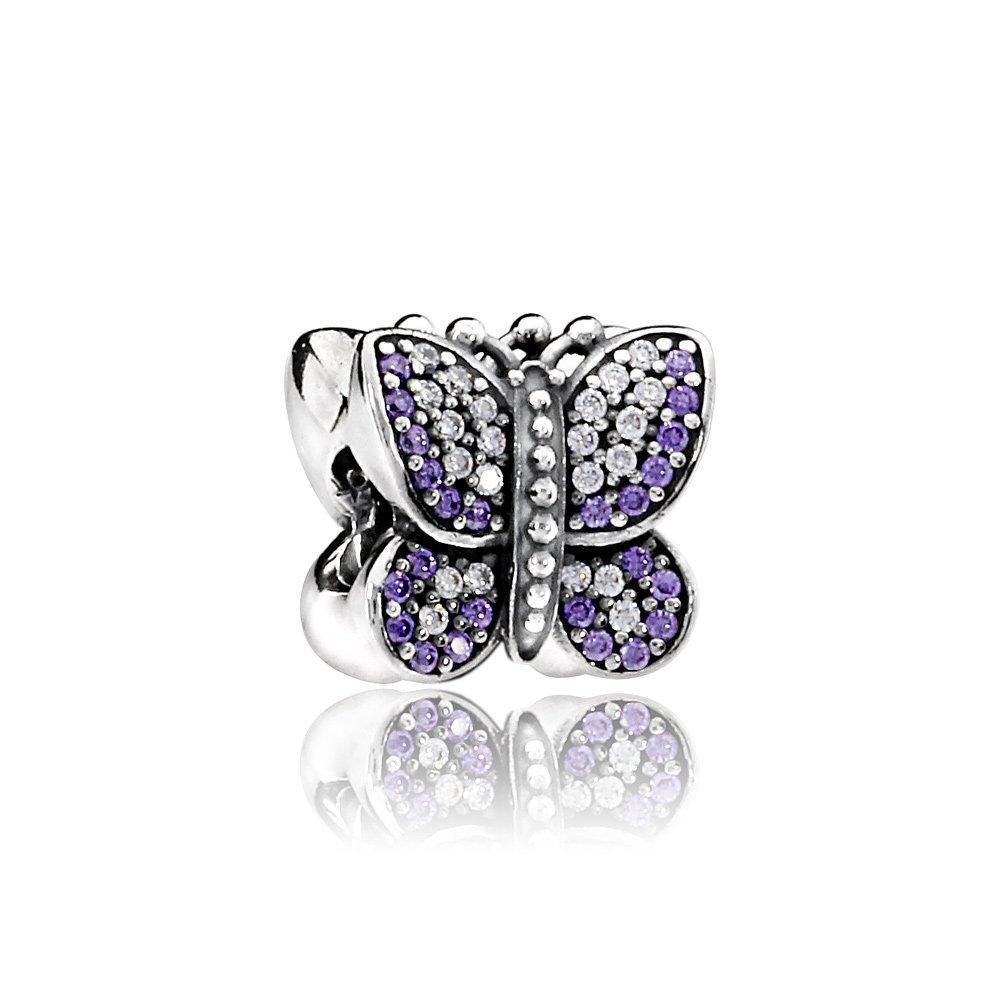 Pandora Sterling Silver Sparkling Butterfly Charm 791257ACZ by PANDORA (Image #1)