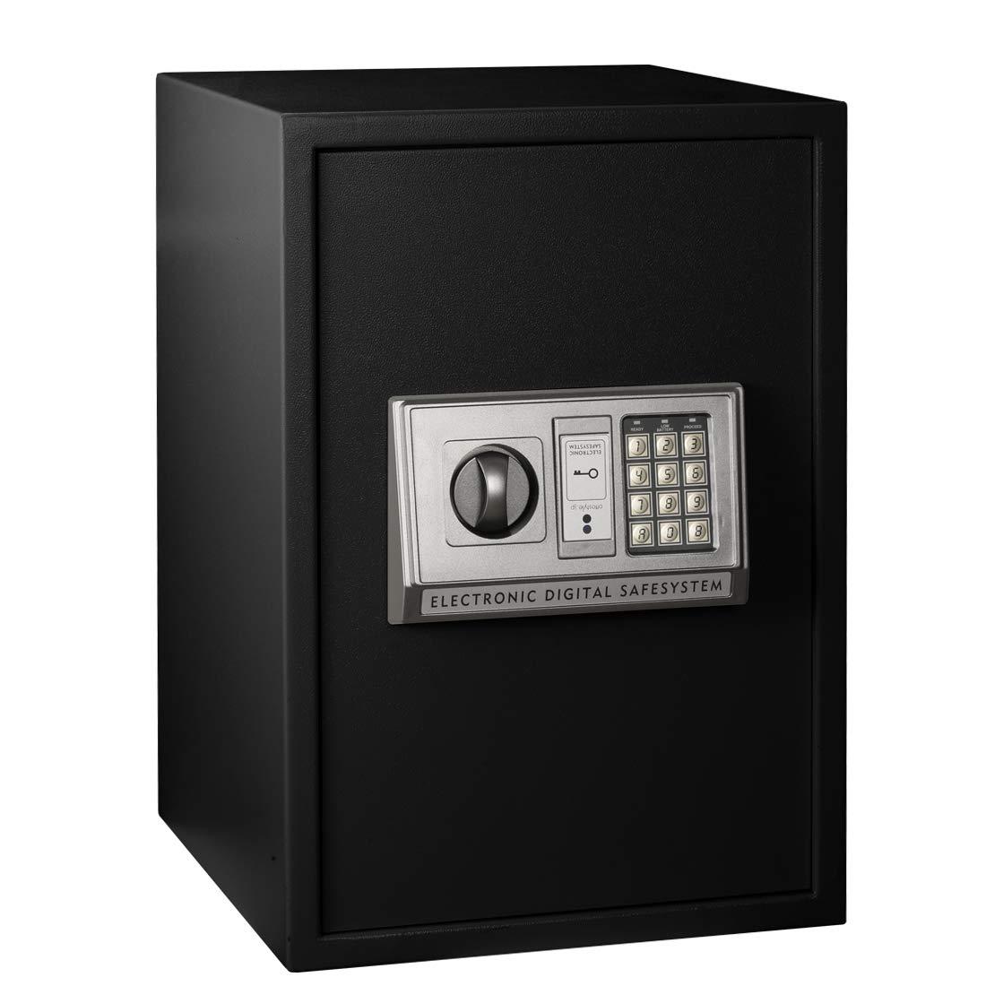 Suptools Digital Safe-Electronic Steel Safe Box Fireproof Safe with Digital Keypad for Home, Business or Travel by (2.3 Cubic Feet,Black)