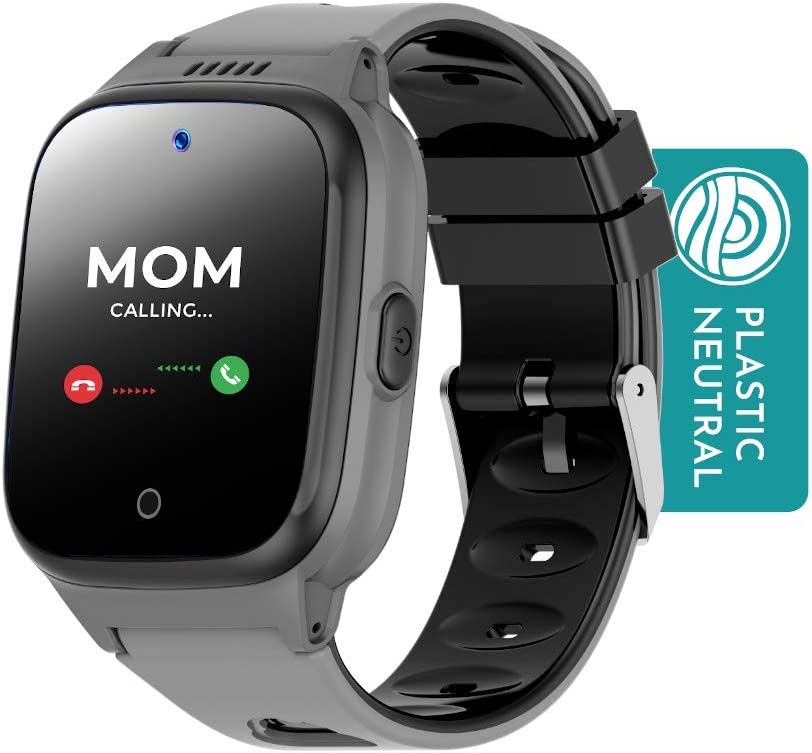 Cosmo JrTrack Kids Smartwatch - Voice and Video Call - GPS Tracker - SOS Alerts - Water Resistant - Blocks Unknown Numbers - SIM Card Included - (Black)