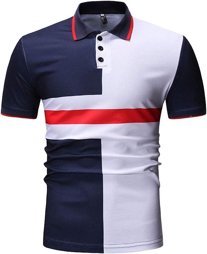 SWISSWELL Camisa Polo Camiseta de Manga Corta Camiseta de Hombre ...