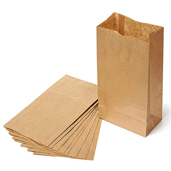 Cozywind - Bolsas de papel kraft para alimentos, 10 unidades, color marrón: Amazon.es: Oficina y papelería
