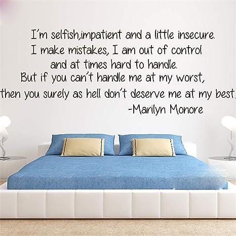 Wandtattoo Schlafzimmer Marilyn Monroe Liebe Zitat ...
