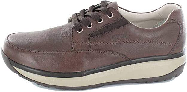 Joya David Leather Textile Casual Low-Top Lace Up Mens Trainers