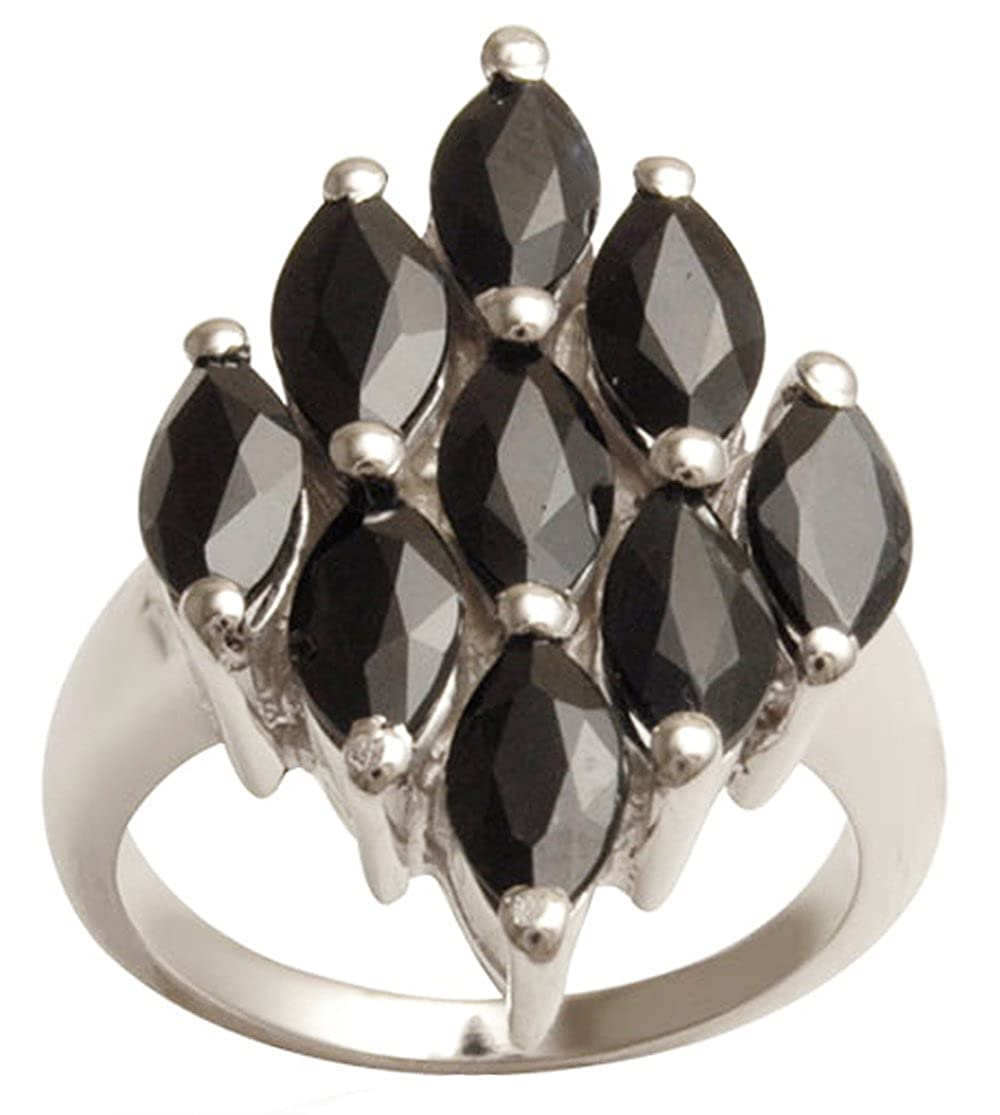 Banithani Black Onyx 925 Sterling Silver Ring For Women Gemstone Rings Finger Band Jewelry