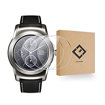 CENTAURUS LG Watch Urbane W150 Glass Screen Protector-(3 Packs) Anti-Scratch Ultra-Thin Shatter Proof HD Clear 9H Hardness Smart Watch Tempered Glass ...