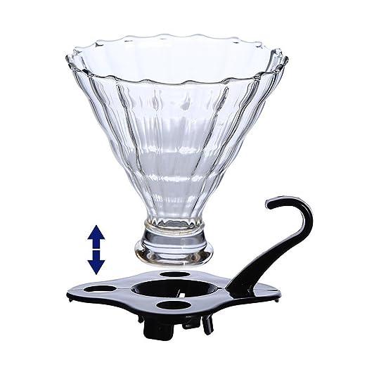 Cristal Filtro de café cafetera eléctrica filtro embudo cafetera ...