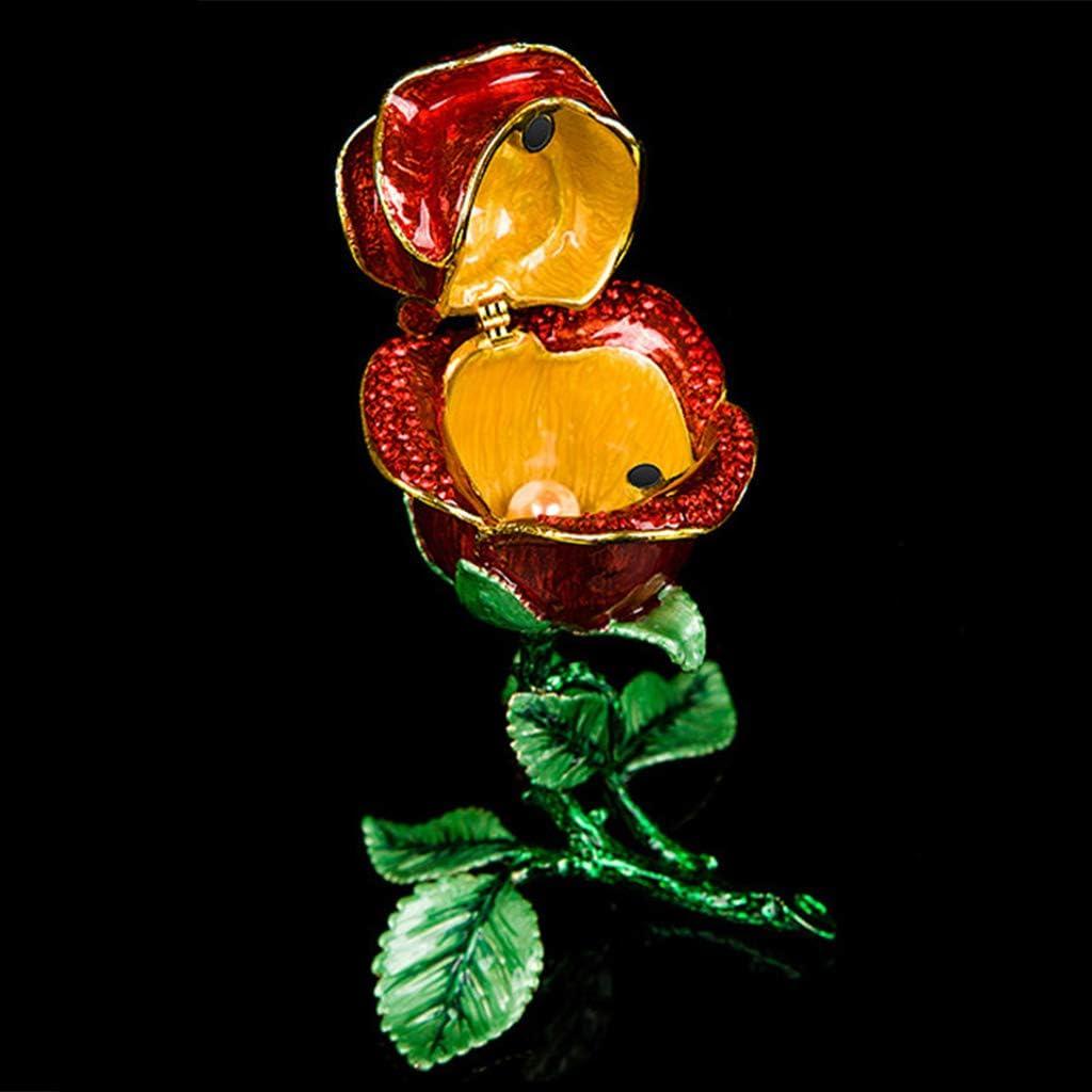 Cadeau Unique Yanhonin Bo/îte /À Bijoux en Forme De Rose