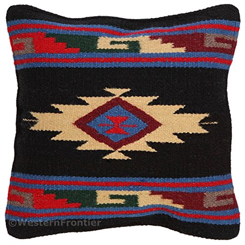 El Paso Designs Aztec Throw Pillow Covers, 18 X 18, Hand Woven in Southwest and Native American Styles. ()