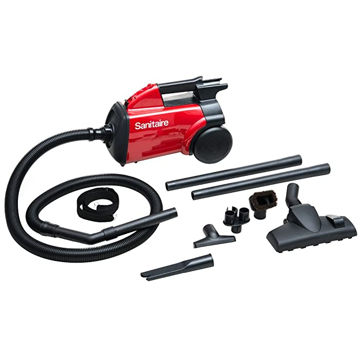Sanitaire SC3683B Commercial Canister Vacuum Cleaner - 1200W Motor - 2.54quart - Red