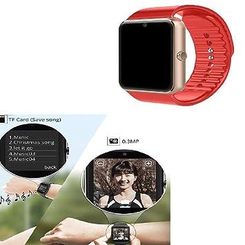 Smart Watches GT08 Reloj de Pulsera con Pantalla táctil con cámara/Ranura para Tarjeta SIM/podómetro analógico/notificación de ...