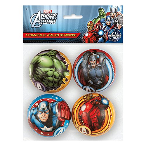 Avengers Foam Ball Party Favors, 4ct (Avengers Party Favours)