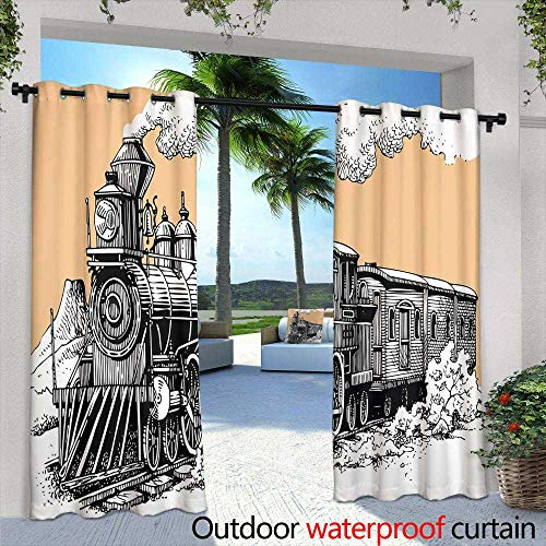 Lightly Patio Curtains,Spring Lake in Natura Spring Day Nature Reserve in Misty Morning in August,W84 x L84 Outdoor Curtain for Patio,Outdoor Patio Curtains August Moon Outdoor Wall