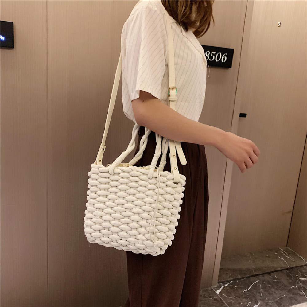Dwqlx nytt mode sommar kvinnor halm strandhandväskor hög kvalitet damer crossbody väskor för kvinnor lyxig designer kvinnlig axelväska – D 2