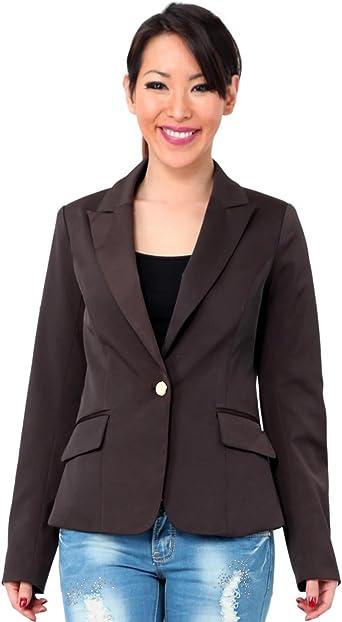 veste tailleur marron femme