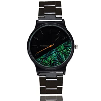 Y56 Reloj Relojes Mujer Negro Mujer Chica Relojes Unisex Mode Malla Mujer Relojes Cuarzo Analog Mujer