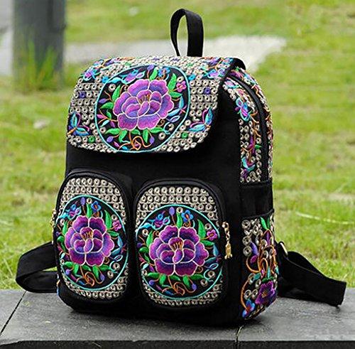 Bolsa de hombro / bordado Bolsa / mochila de viaje ( Color : 8# ) 7#