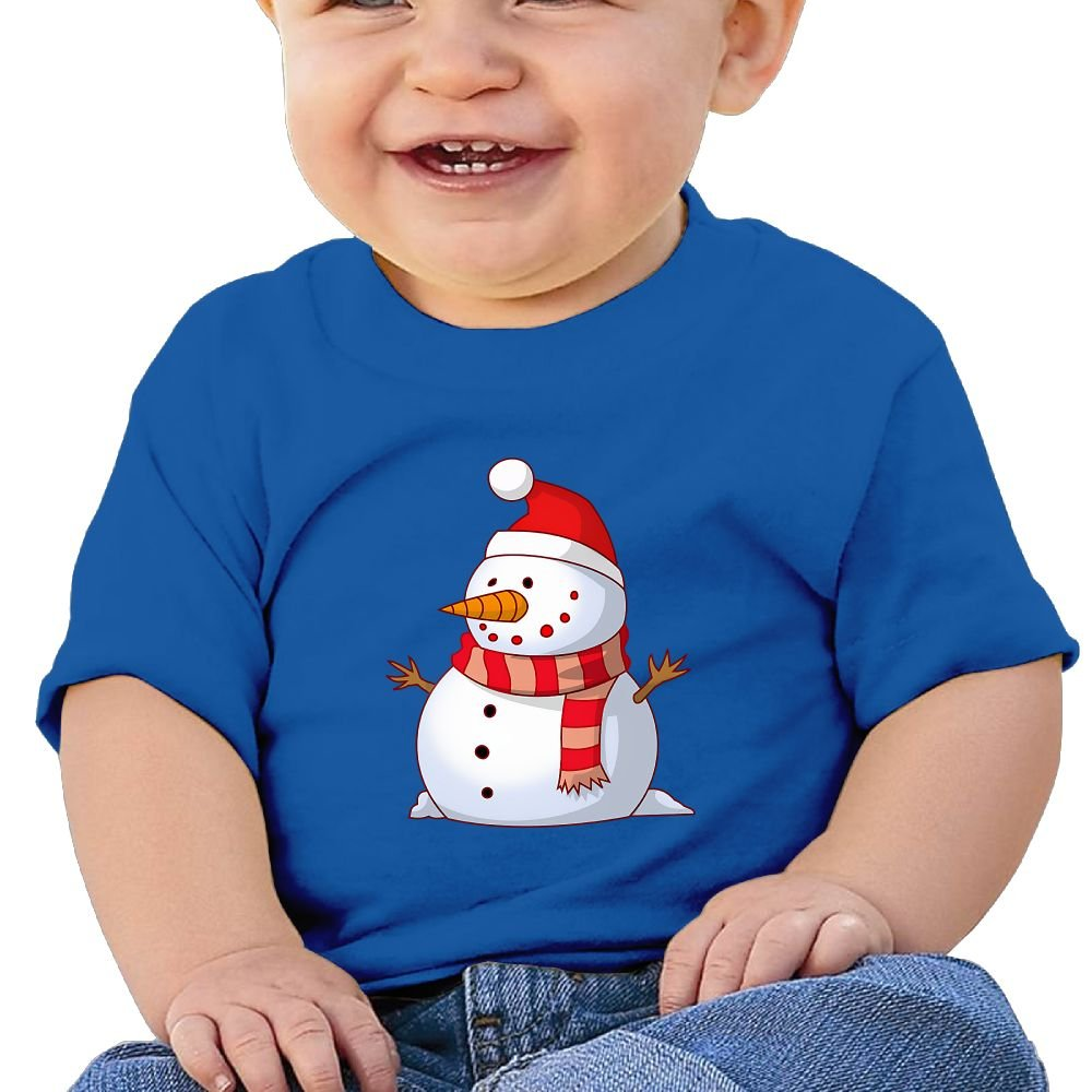FFWWLHR Cartoon Santa Snowman Baby Clothing Tops Unisex Cute Merry Christmas Cotton Baby Toddler Tops