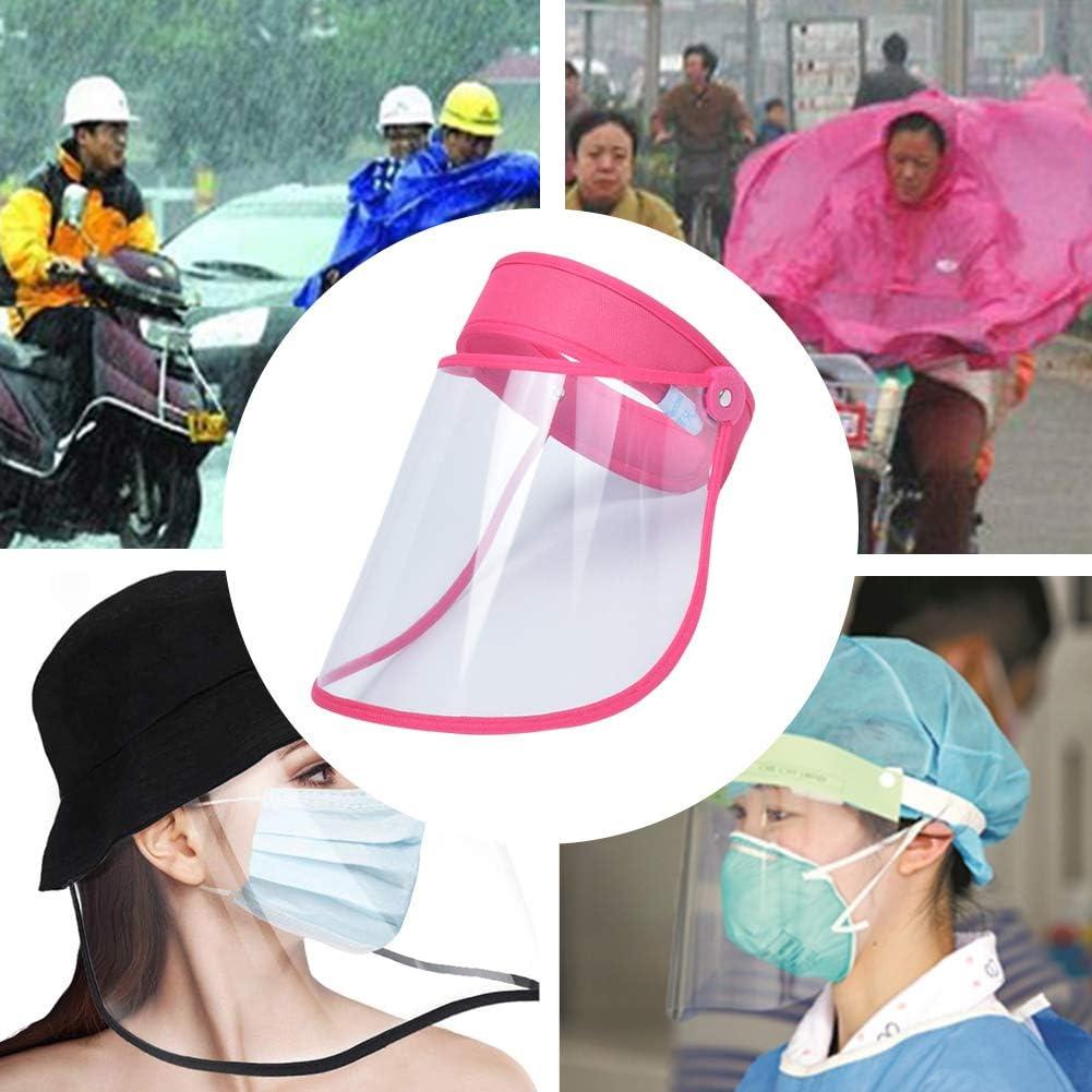 AIEOE Visera Protectora Transparente Prueba de Sapicaduras Escudo de Protecci/ón de Cara Antivaho Ajustable Protector Facial Completa para Hombre Mujer
