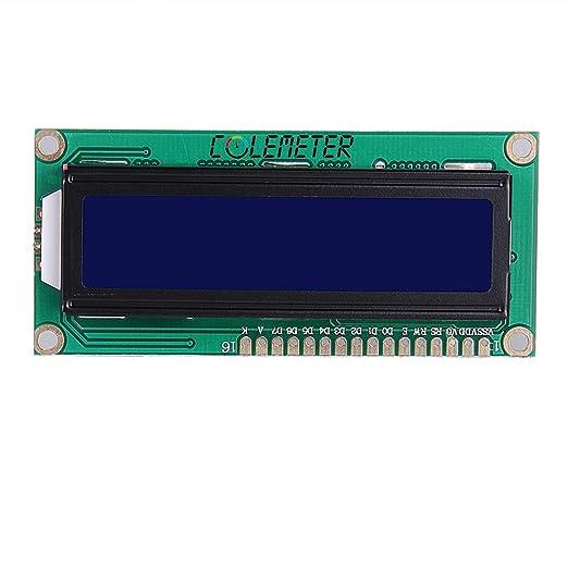55 opinioni per COLEMETER HD44780 1602 16x2 LCD DISPLAY MODULO BLU RETROILLUMINA [Elettronica]