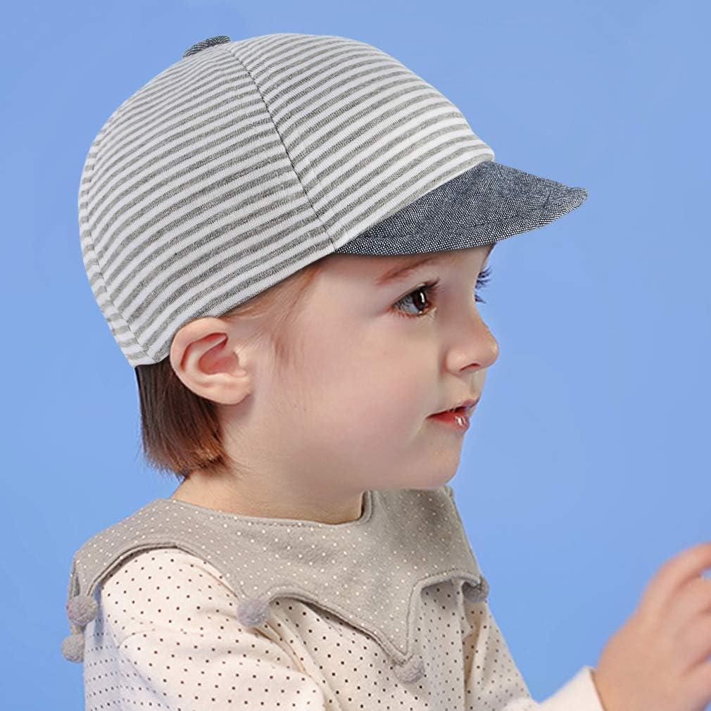 Cloud Kids Baby Kinder M/ütze Junge Baseball Cap Hut Streifen Schirmm/ütze Sonnenhut