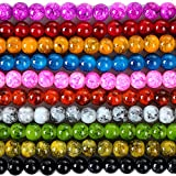 Czech Glass Round Bead MIX of Colorz High Quality - 8mm By eArt - 2xStrand
