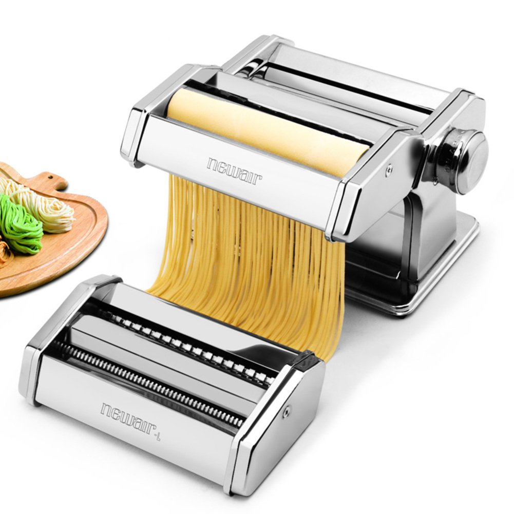 ITAPMNOD Stainless Steel Manual Noodles,Pasta Roller Machine Perfect for Spaghetti Fettuccini Lasagna or Dumpling Skins-A by ITAPMNOD