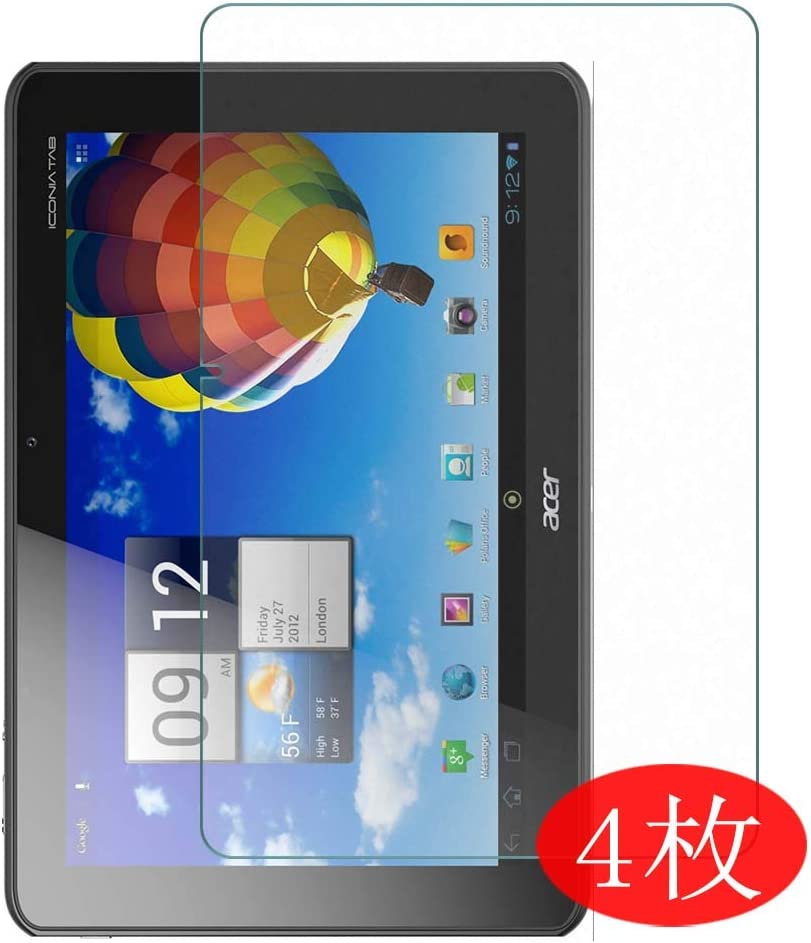 """【4 Pack】 Synvy Screen Protector for Acer iconia Tab 10.1"""" A510 TPU Flexible HD Clear Case-Friendly Film Protective Protectors [Not Tempered Glass] New Version"""