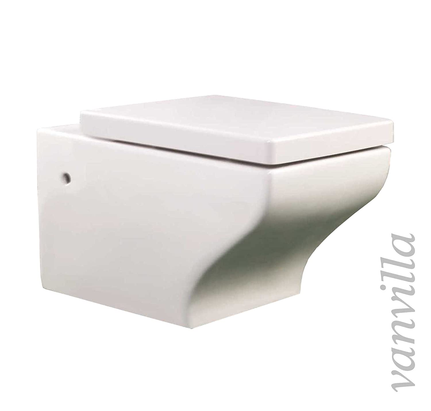 vanvilla Design Hä nge-WC 888 Tiefspü ler Toilette Soft-Close, Wand WC