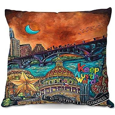 Decorative Outdoor Patio Couch Throw Pillows from DiaNoche Designs by Patti Schermerhorn Austin Keeping It Weird BBQ Garden Outdoor Ideas