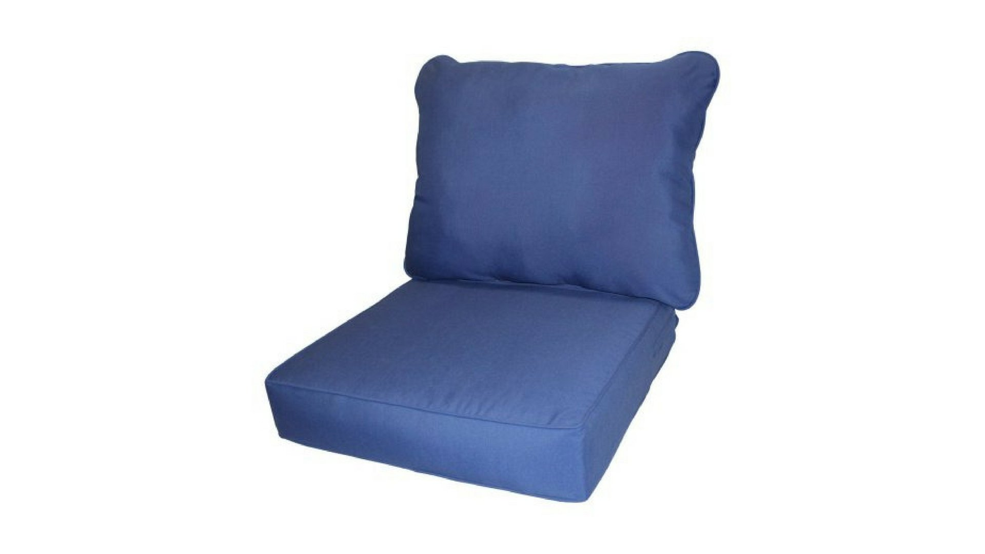 Outdoor Patio Marine Deep-Seat Poly-wrapped Foam Cushions, 100 Percent Outdoor Polyester Fabric