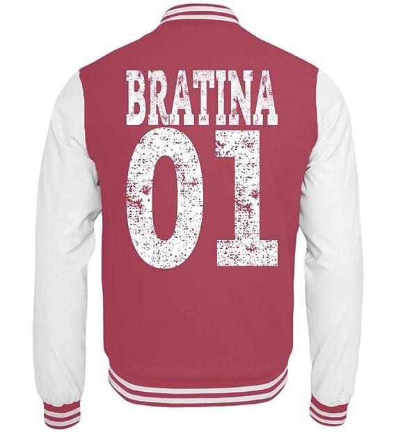 Hip Hop Bratina 01 Rap Schwester Russisch Brate Bratan Geschenk - College Sweatjacke