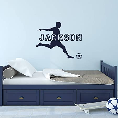 Barcelona Wall Decal Decor Stickers Vinyl Sport Custom Name Soccer Messi Decor