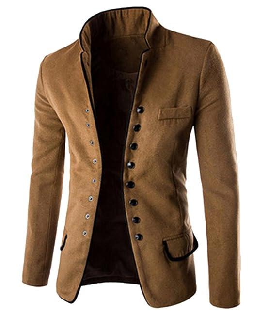 Hombres Slim Fit Casual Negocios Con Estilo Traje Abrigo Chaquetas Blazers: Amazon.es: Ropa y accesorios